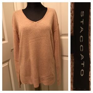 NWOT Peach/Pink Staccato Sweater